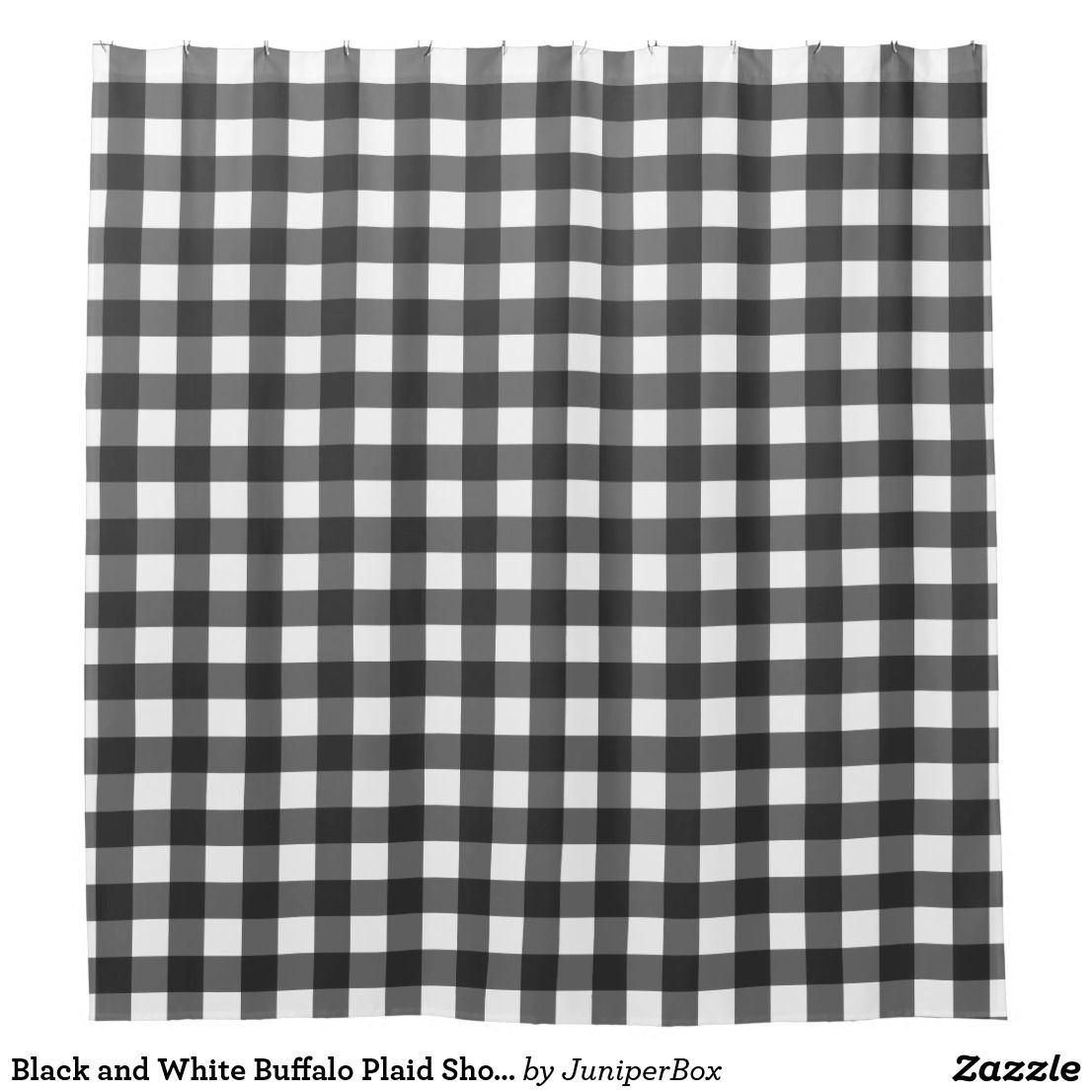 Black And White Buffalo Plaid Shower Curtain Zazzle Com Plaid Shower Curtain Rustic Shower Curtains Black Curtains