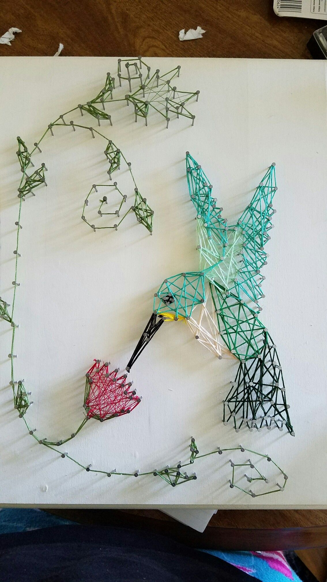 String art hummingbird for grandma | my DIYs | Pinterest | String ...
