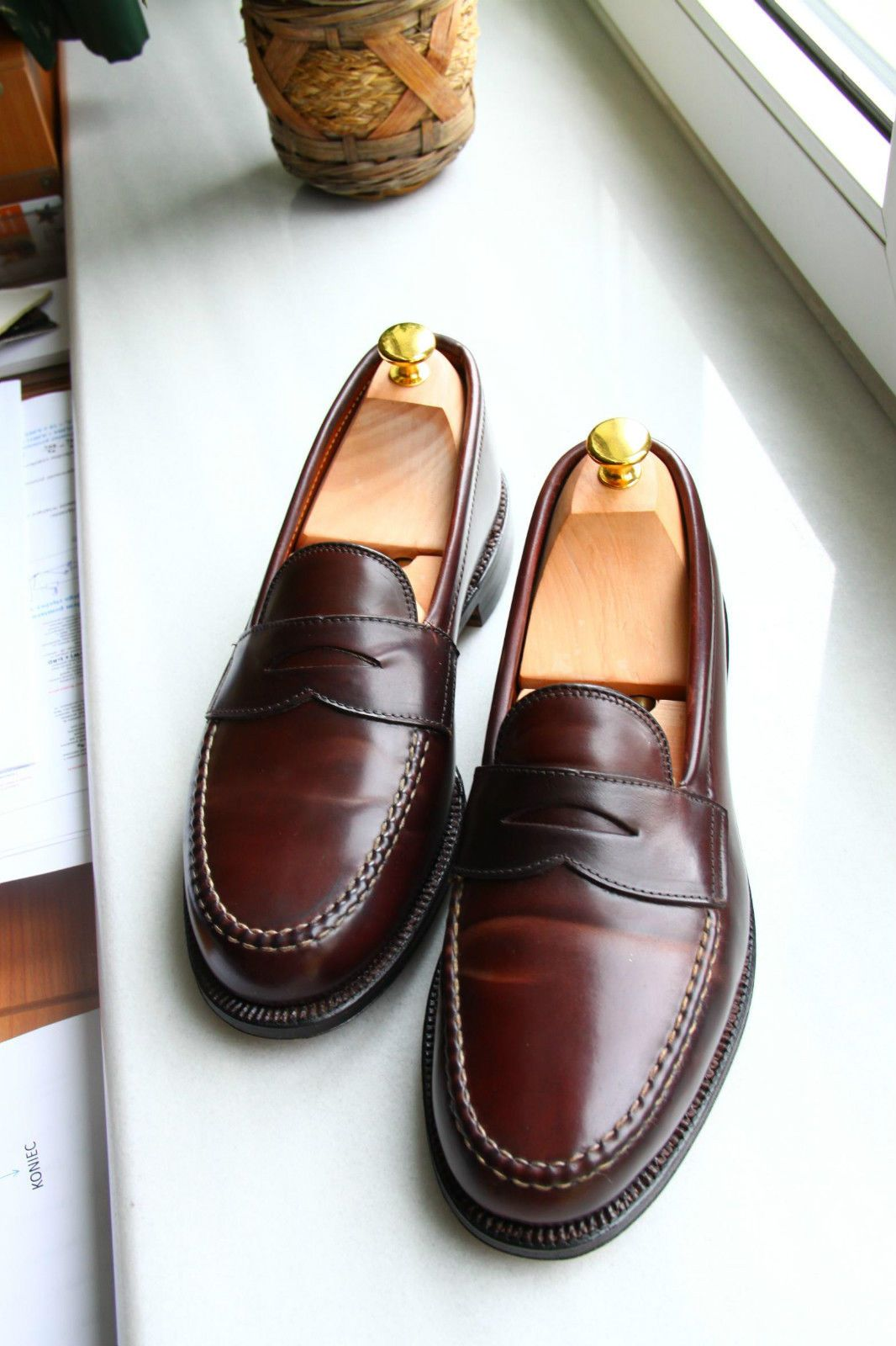 b40e829a20e Alden penny loafers