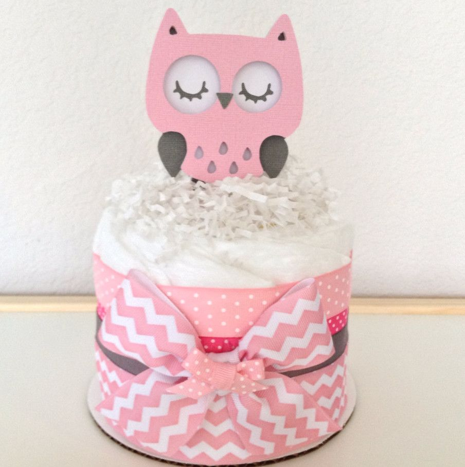 Pink Owl Baby Shower Decorations