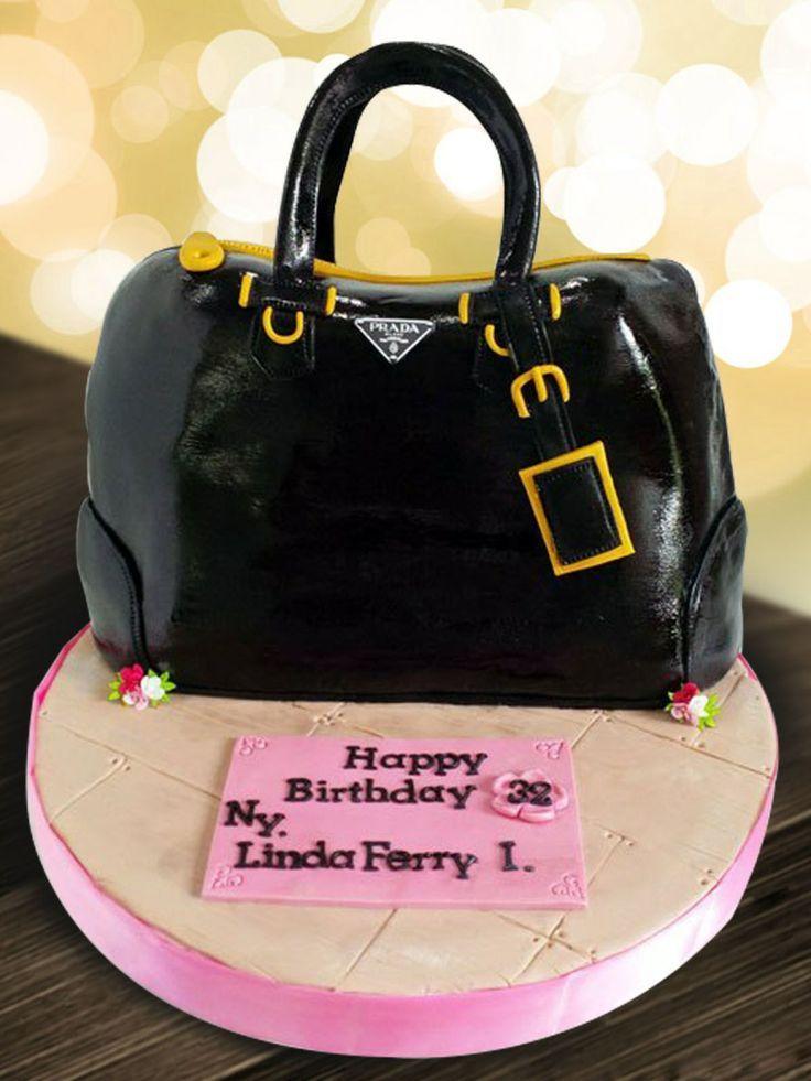 prada purse cakes   Prada Bag Birthday Cake – JW Cakes  Diese und weitere Taschen auf www.designertaschen-shops.de entdecken
