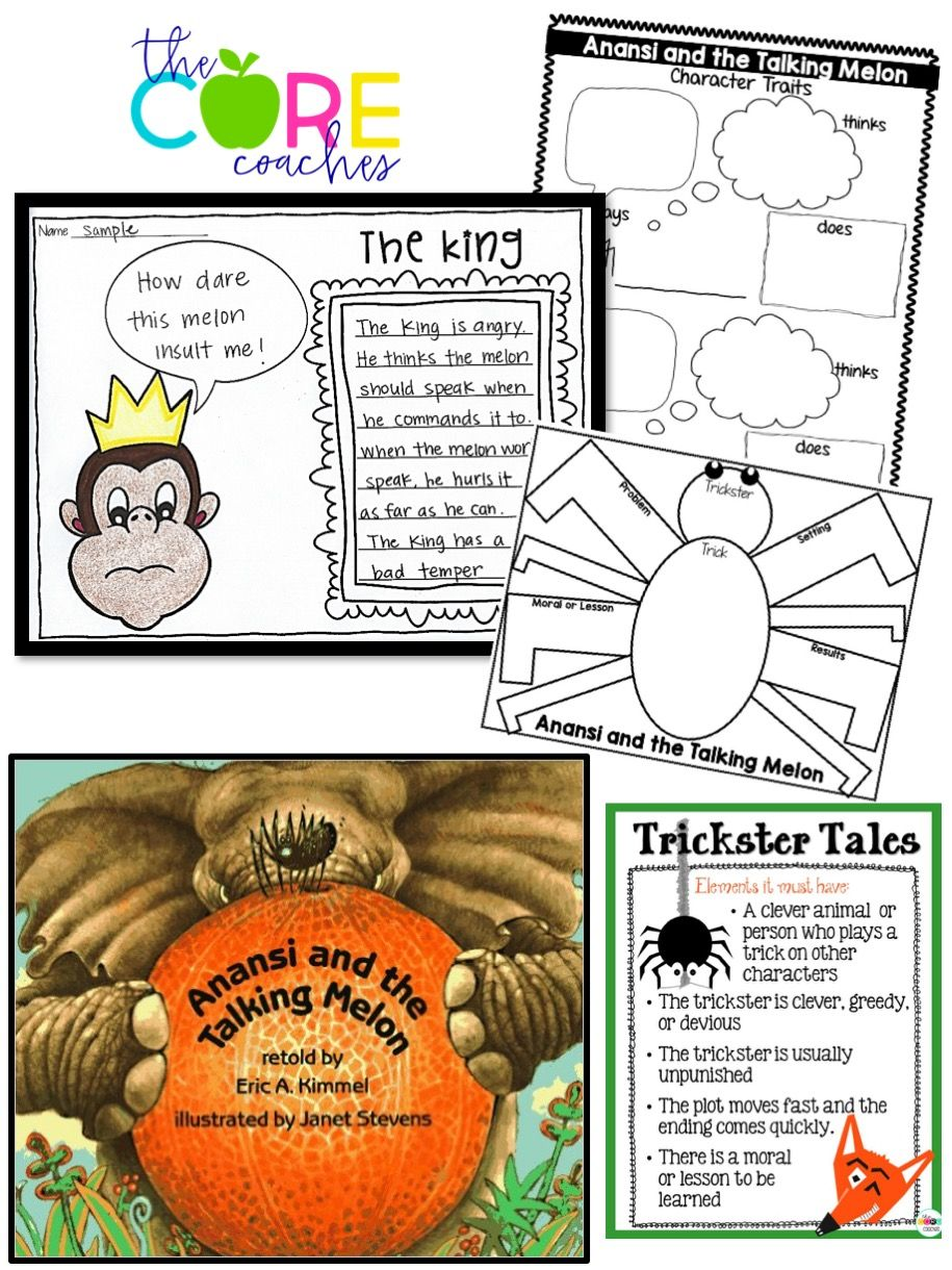 Anansi and the Talking Melon lesson plans and opinion writing. So cute!