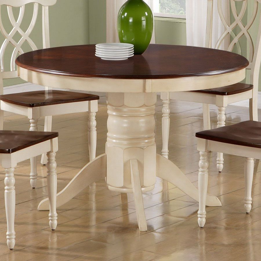round dining table painted white Choose Your Savings