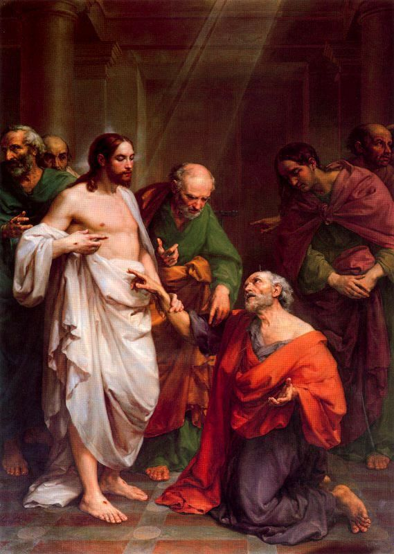 Damsel of the Faith - coriesu: The Incredulity of Saint Thomas Vicente... |  Jesus christ images, Biblical art, Bible pictures