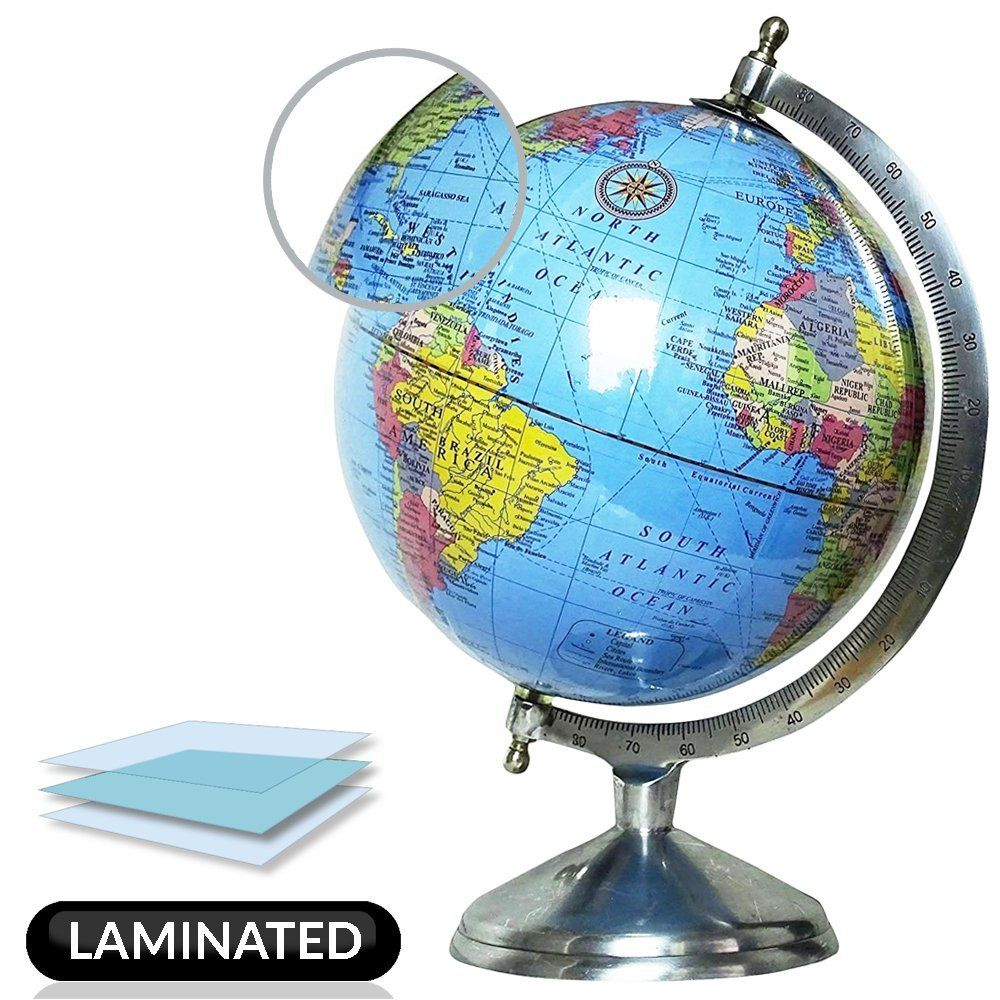 Amazon globe 8 inch educational rotating national geographic amazon globe 8 inch educational rotating national geographic blue laminated world globe with stand large modern classic political map globes with gumiabroncs Gallery
