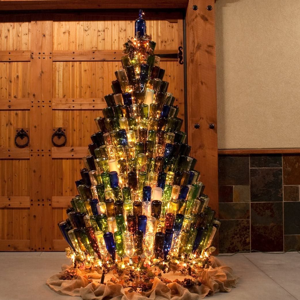 now thats my kind of recycling! wine bottle christmas