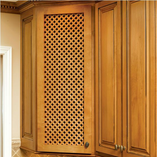 Solid Wood Diagonal Lattice Cabinet Door Inserts By Omega National