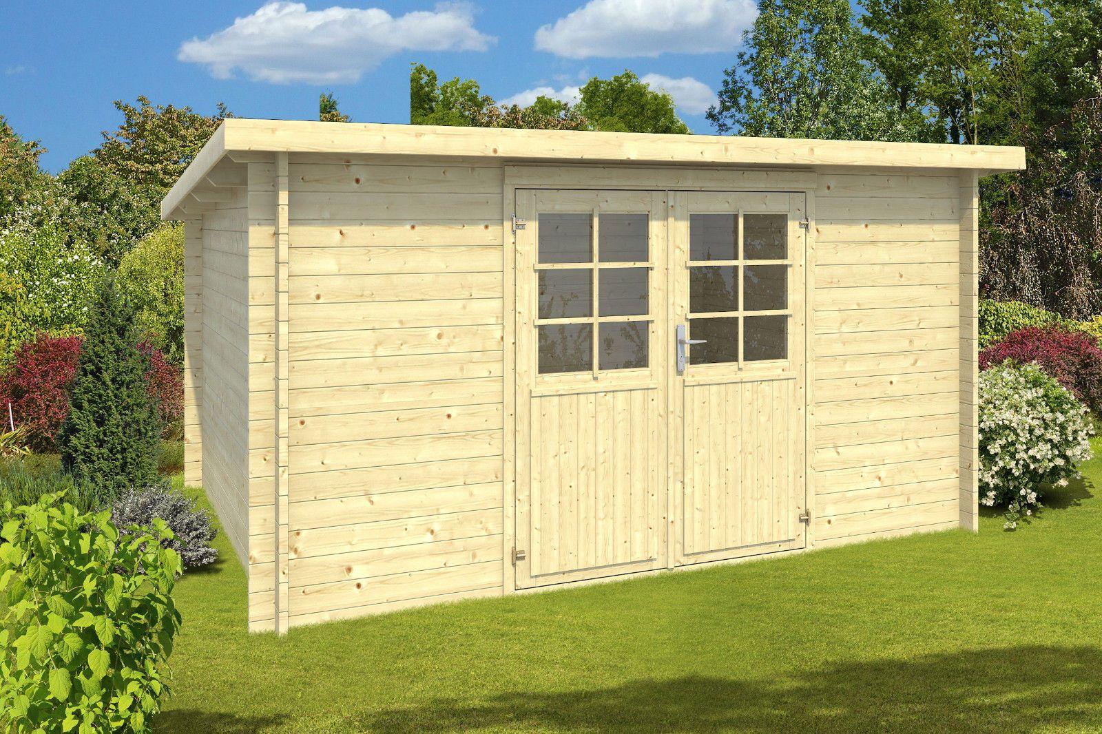 34 mm Gartenhaus ca. 400x300 cm Holz Pultdachhaus