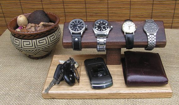 Watch stand mens valet watch display by for Homemade rack case