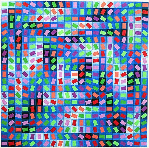 Victor Vasarely- Untitled 1997.  Art Experience NYC  www.artexperiencenyc.com