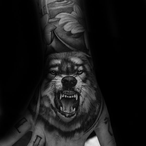 6bf817e51 50 Realistic Wolf Tattoo Designs For Men - Canine Ink Ideas ...