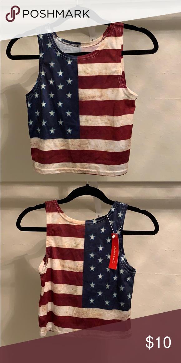 American Flag Crop Top Distressed Coloring American Flag Crop Top Tops Crop Tops American Flag Crop Top Tops Crop Tops
