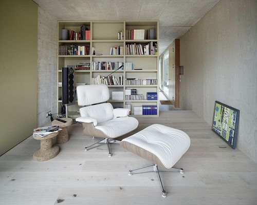 Single Family House Kusnacht Zurich House Interior White Eames Chair Interior Design