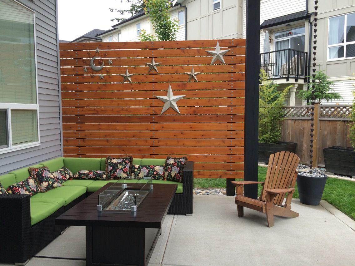 cedar patio privacy wall 5 4x6 cedar