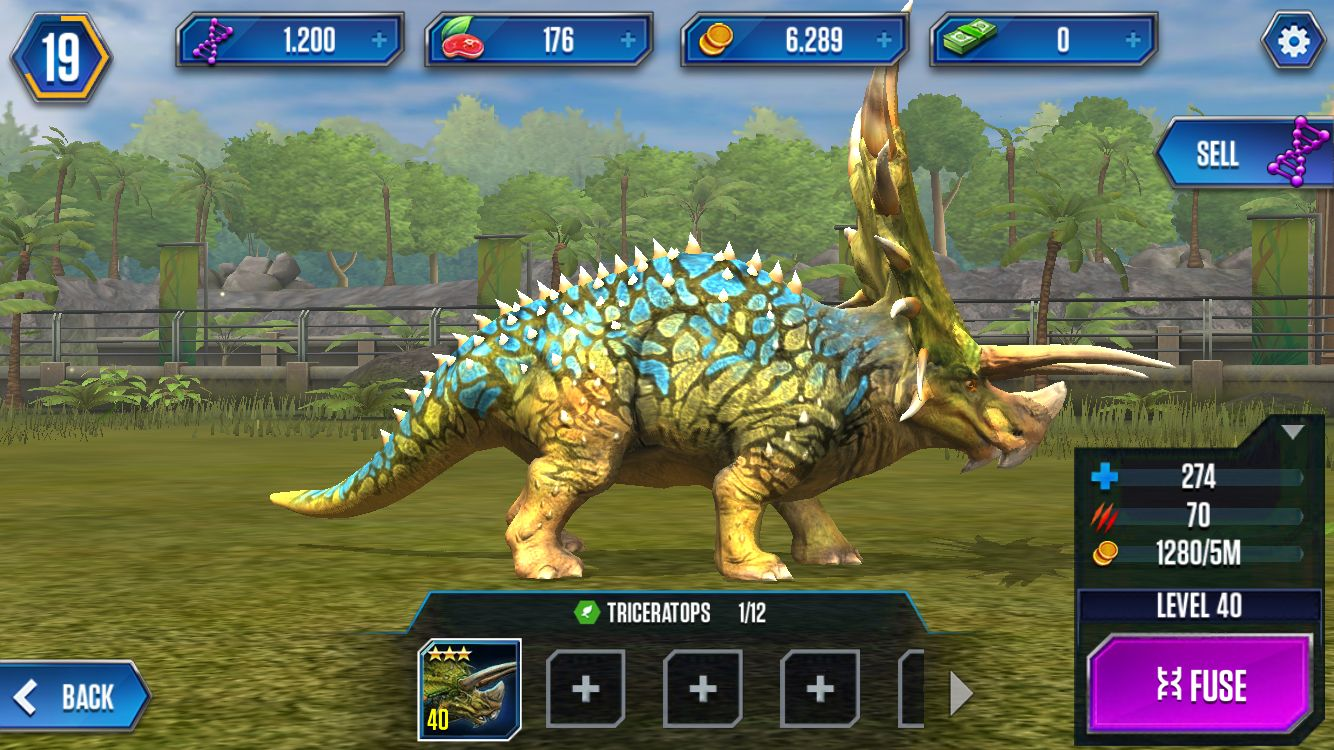 triceratops level 40 jurassic world the game in 2018 jurassic