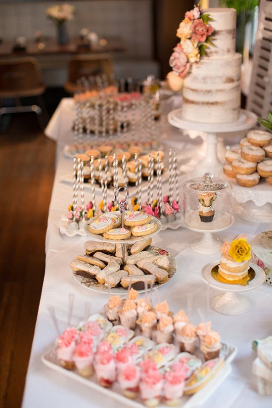 bridal shower dessert table ideas