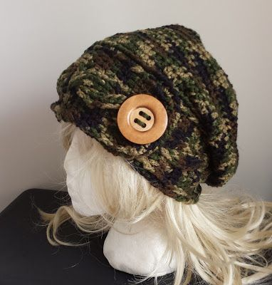 365 Crochet Cabled Headband Hat Wbig Button Free Crochet Pattern