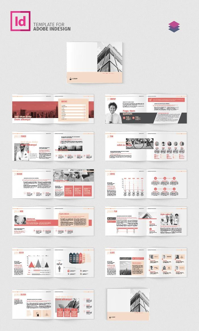 Download Company Profile Landscape Page Layout Design Company Profile Design Brochure Design Layout