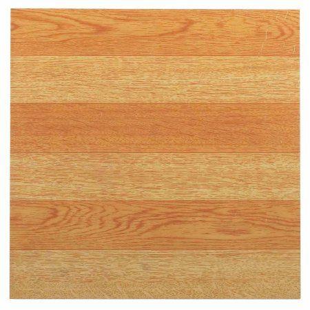 Nexus Light Oak Plank Look 12x12 Inch Self Adhesive Vinyl Floor Tile