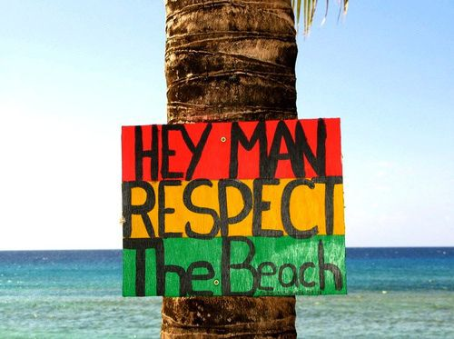 oye, hombre; respecta la playa