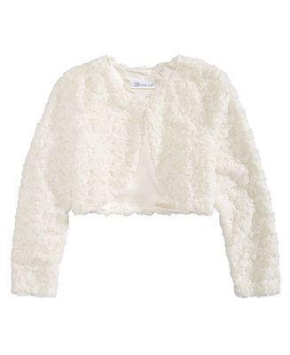 7536a25e3362 Bonnie Jean Big Girls Faux Fur Shrug Kids - Coats   Jackets - Macy s ...