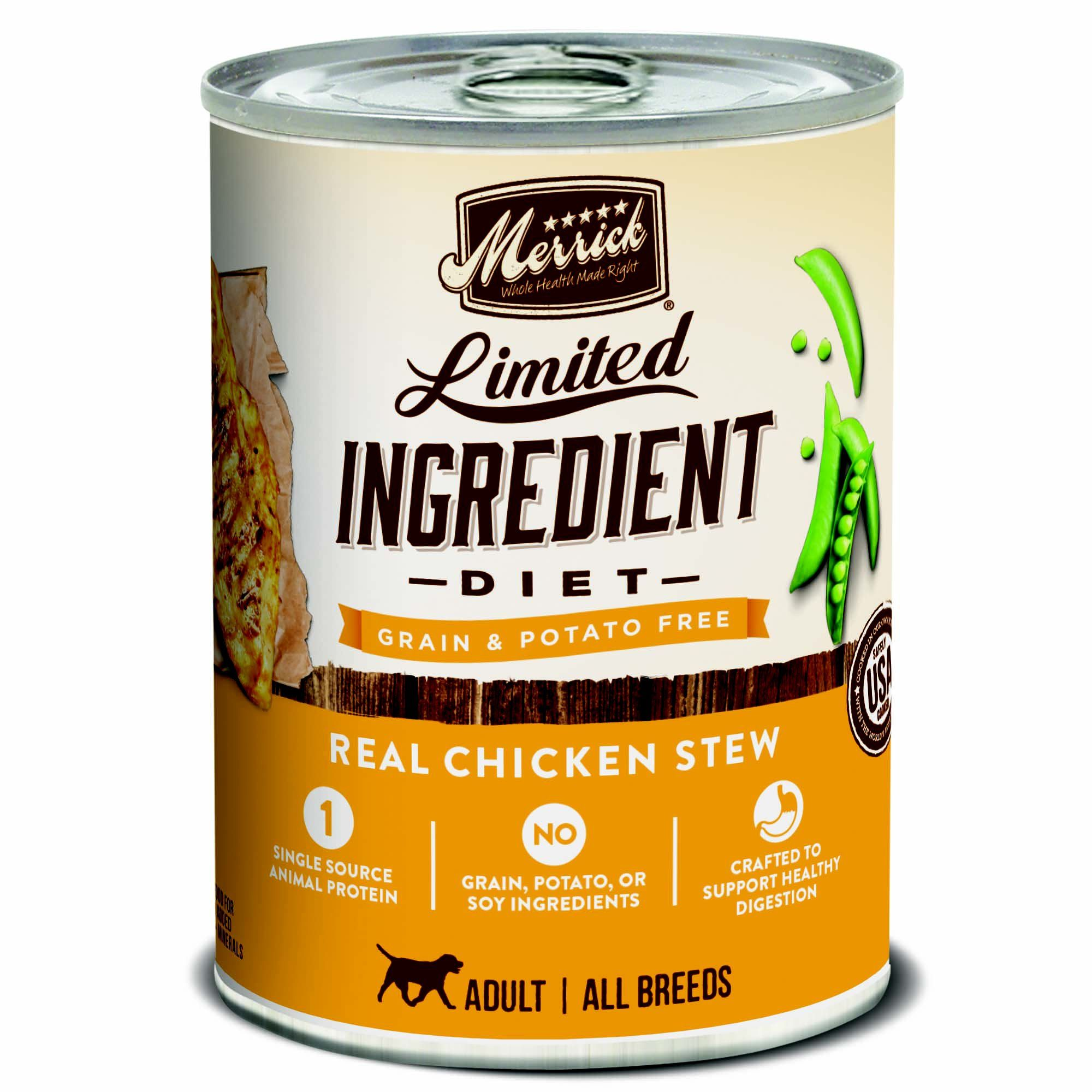 Merrick Limited Ingredient Diet Grain Free Real Chicken Canned Dog