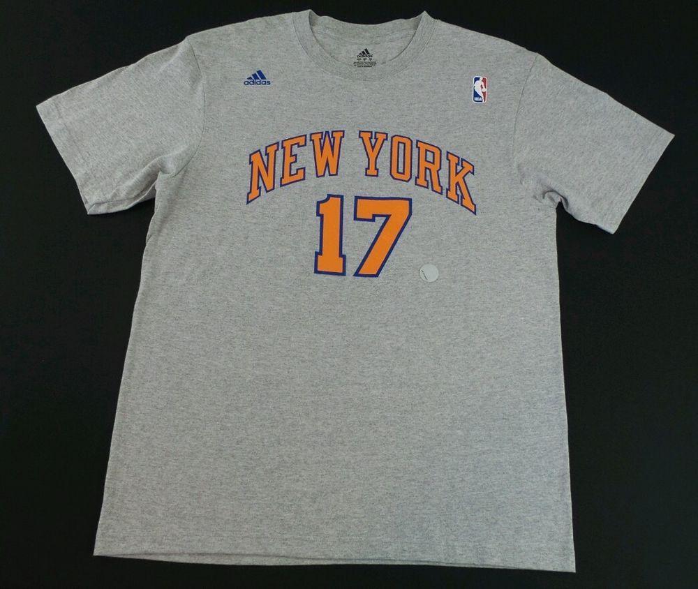 52eab98a Adidas NEW YORK NY Knicks NBA Basketball T-Shirt Lin #17 Size L #adidas  #NewYorkKnicks