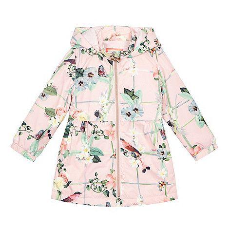 25d603f356b6 Baker by Ted Baker Girls  pink floral print shower resistant mac jacket