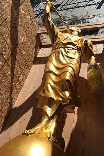 Nauvoo Temple Moroni Statue Replaced After Damage #greekstatue