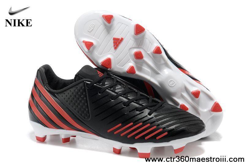 Buy Cheap Bright Black Red Adidas Predator Lz Trx Fg Football Boots Shop Nike Soccer Shoes Soccer Shoes Adidas Soccer Shoes