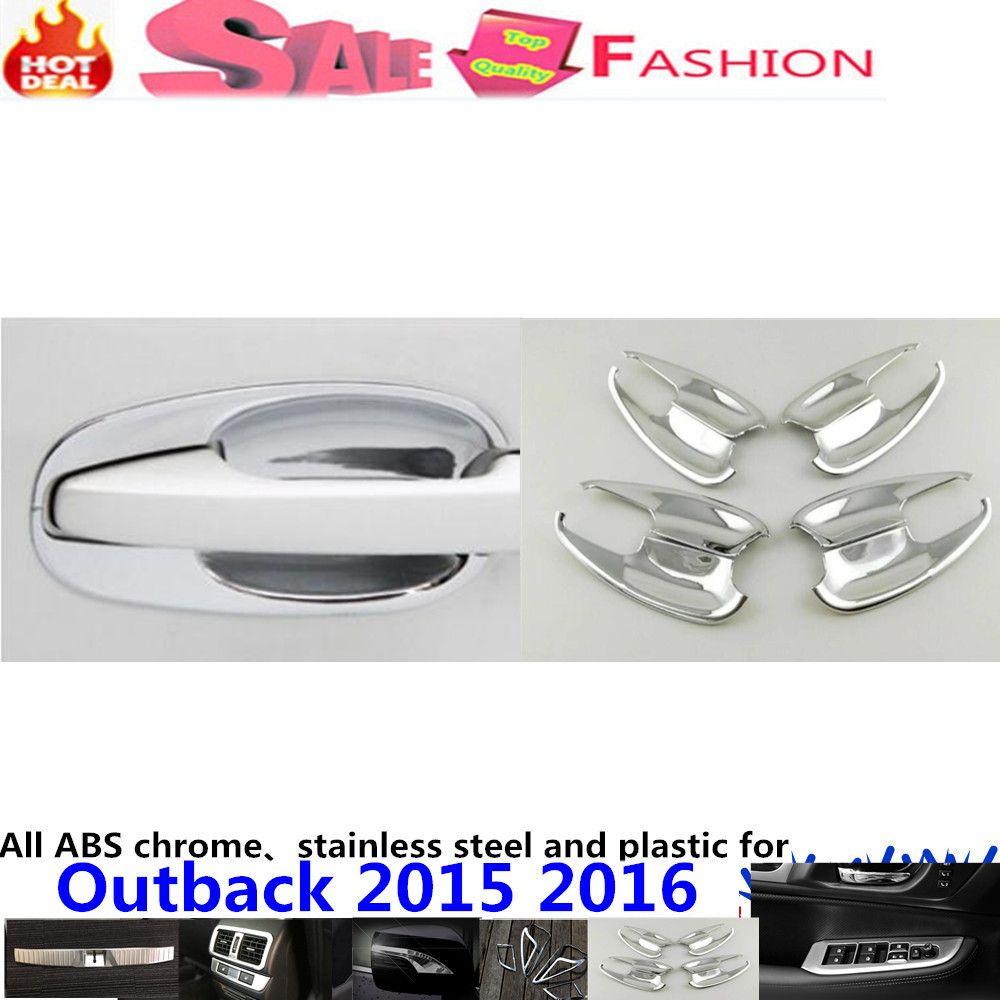 Car body cover detector trim abs chrome external door bowl sticks lamp hoods frame 8pcs for