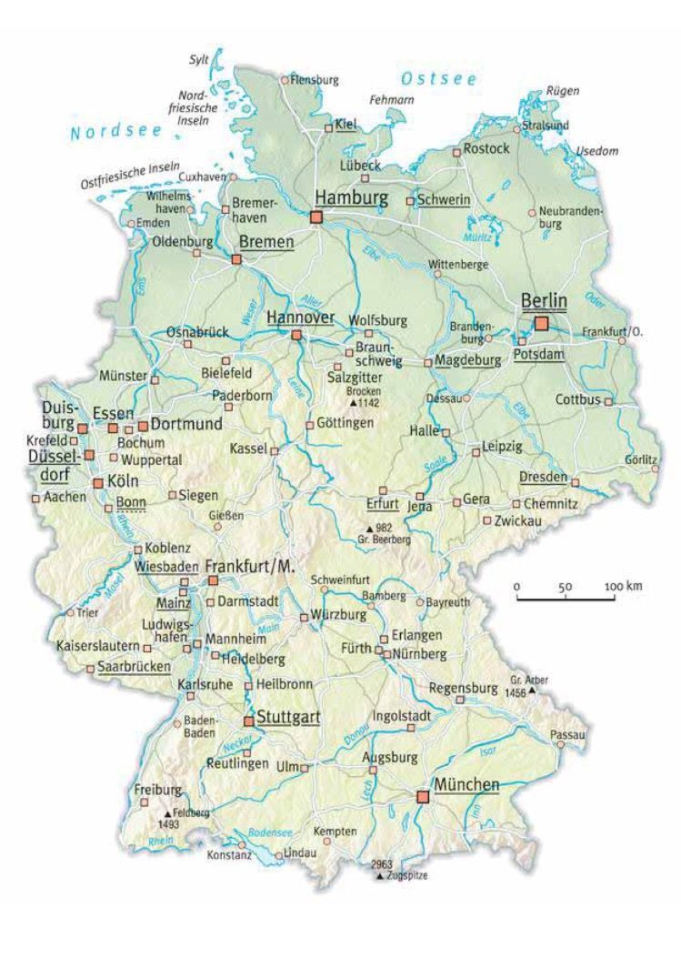 graphic regarding Printable Map of Germany called Pin by way of Maxie Bouwer upon German language Map, Germany