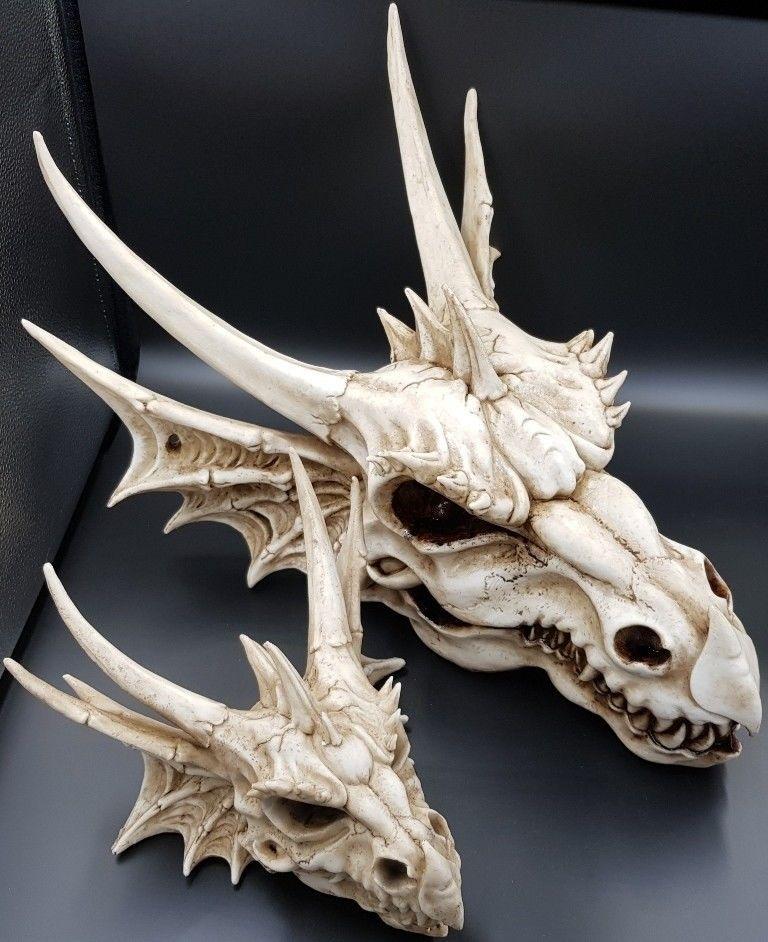 Dragon Head Skull Wall Hanger Table Top Display Ornament
