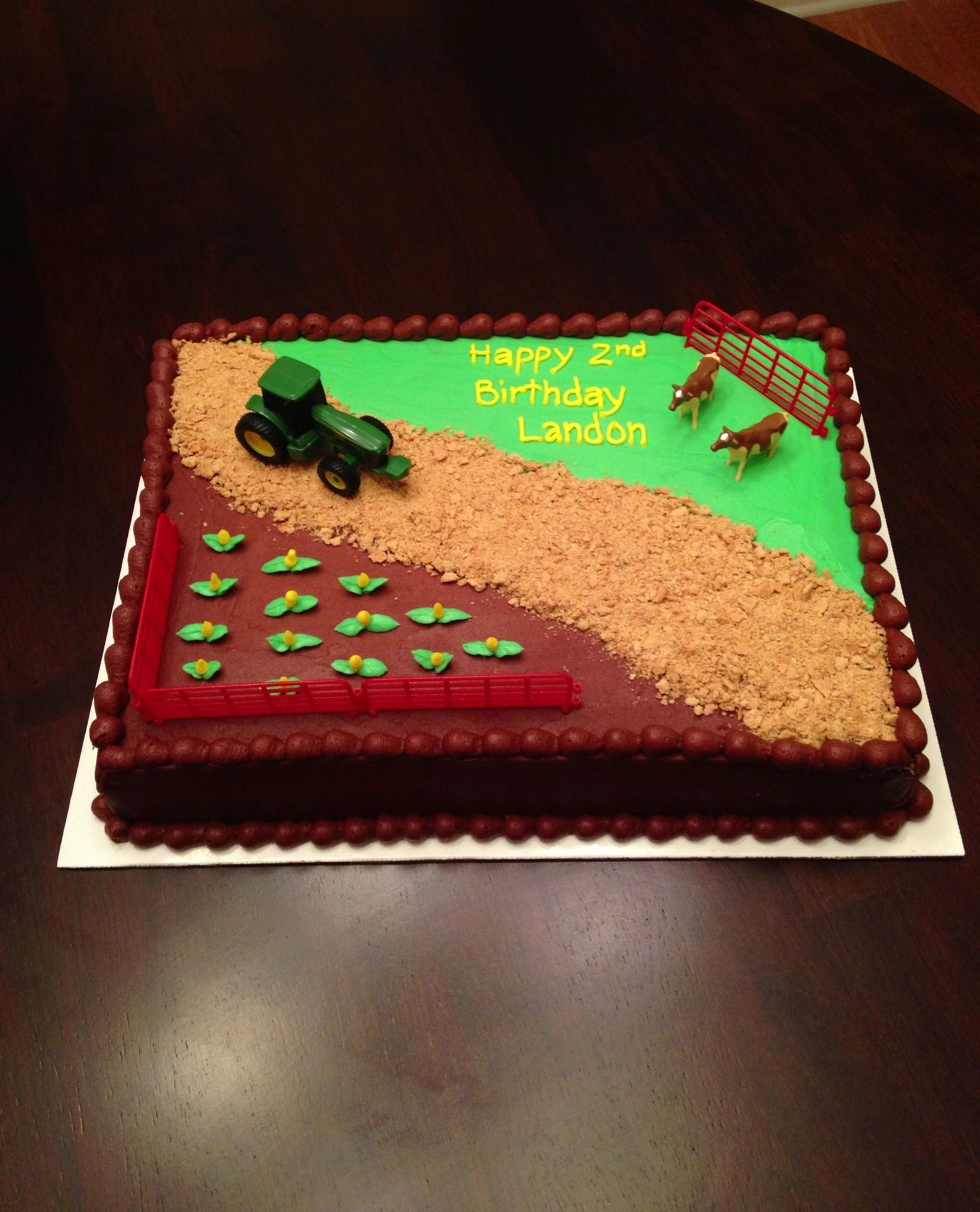 John Deere cake Birthday Pinterest