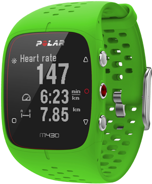 Polar M430 Running watch with GPS tracker and pace in
