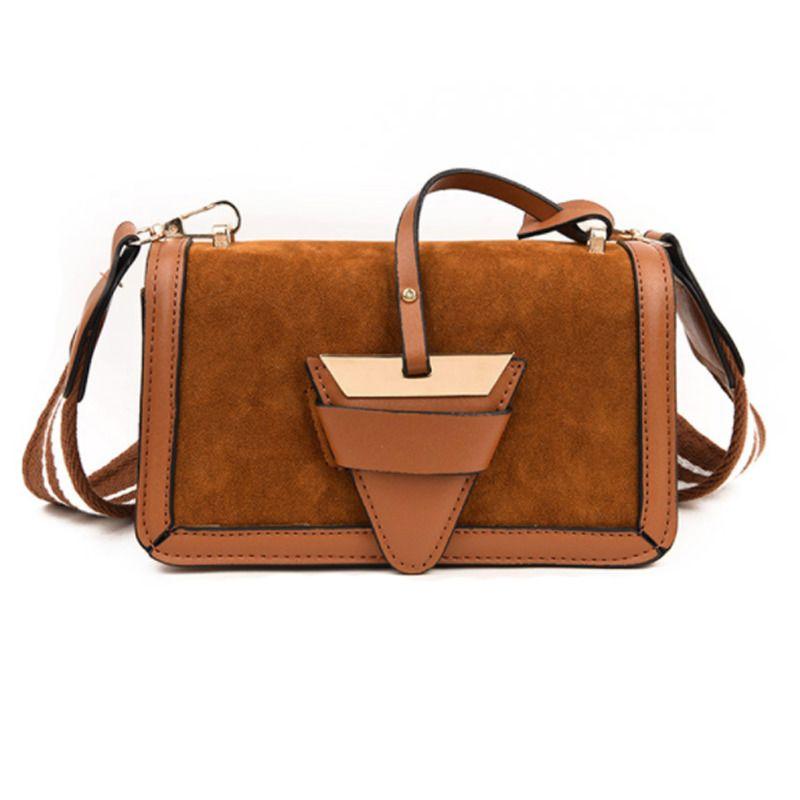 d27ebc3c6f33e Women Crossbody Bag Soft Leather Triangle Lock Flap Stripe Strap Small  Handbag #LFS #CrossbodyMessengerShoulderBag