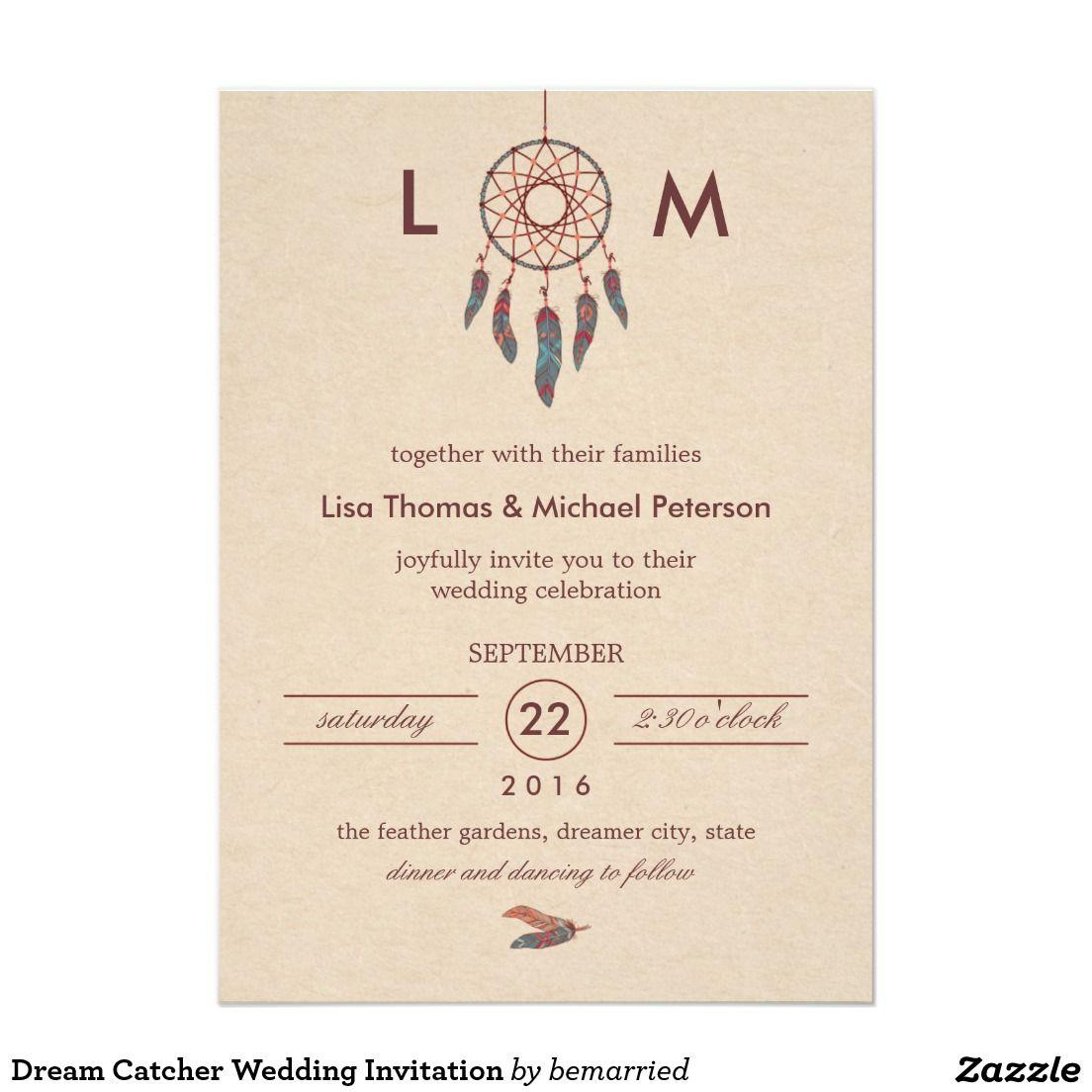 Dream Catcher Wedding Invitation