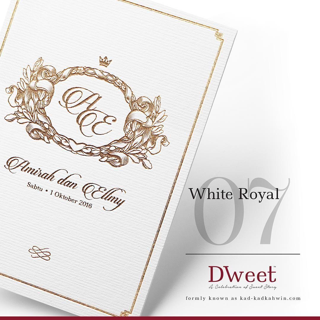 White Royal 07 New Collection White Royal Khas Untuk Mereka Yang Menyukai Design Simple Te Invitations White Wedding Invitations Kad Kahwin