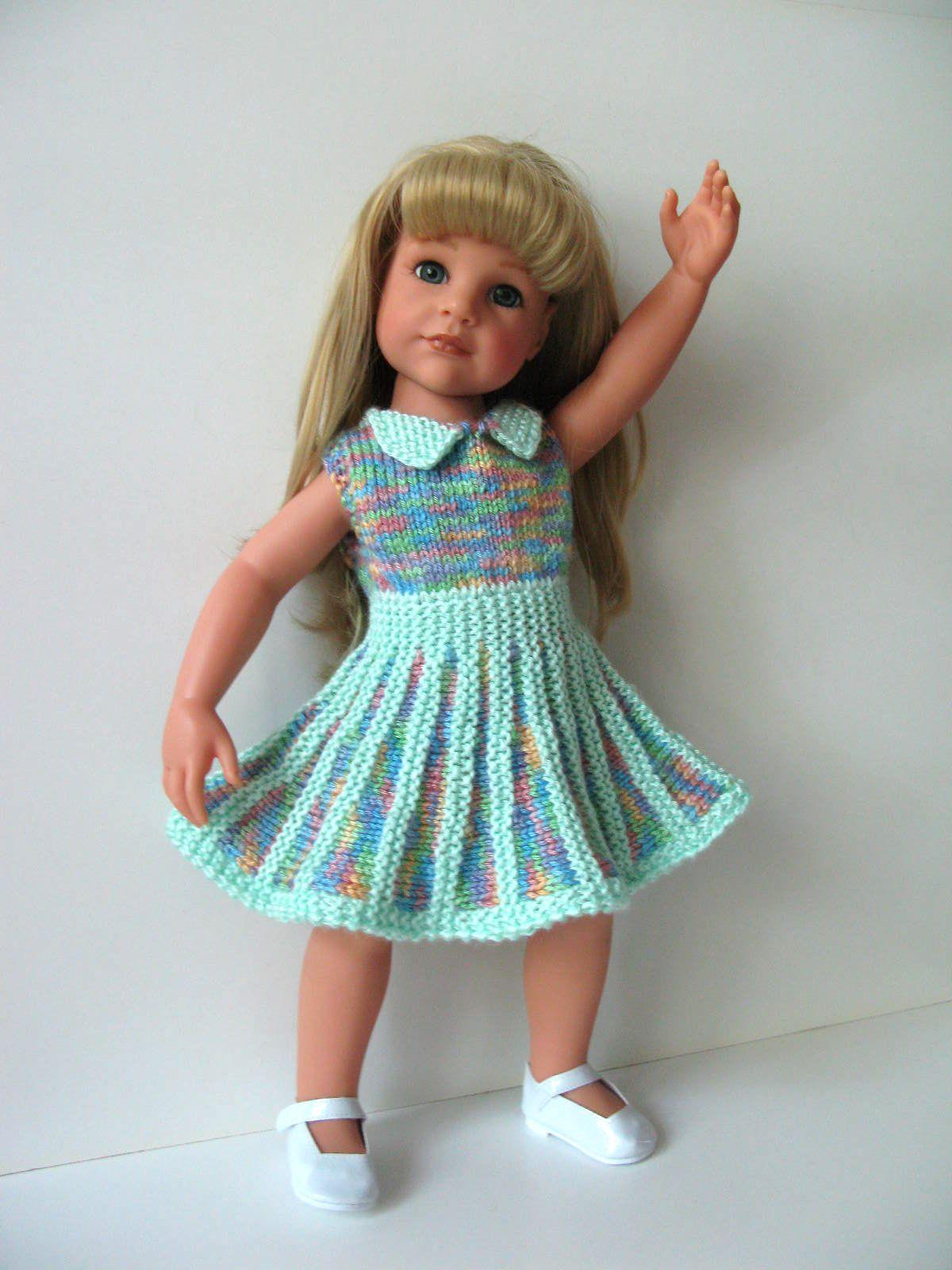 Sandy Dress Knitting Pattern (49) | Knitting dolls clothes ...