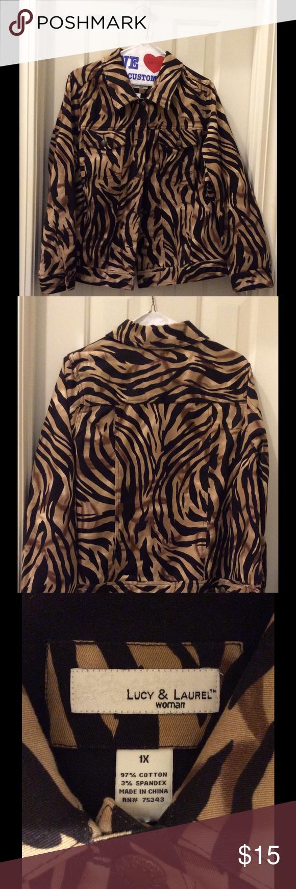 54bc71a85afa Tiger print denim jacket! Tiger print denim jacket! EUC! Lucy & Laurel  Jackets & Coats Jean Jackets