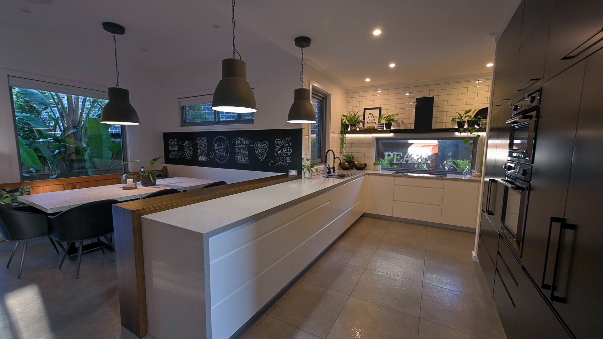 This modern black & white kitchen with a hidden butler's pantry has been designed with the home owners in mind - with teenage children and a love of entertaining.  #kitchen #modernkitchen #kitchenideas #kitcheninspiration #kitchengoals #sydneyhome #sydneyhomes #kitchenbuild #kitchendesign #newbuild #renovation #duplexkitchen