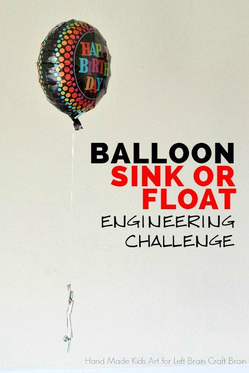 Balloon Sink or Float Engineering Challenge | Stem learning and Learning