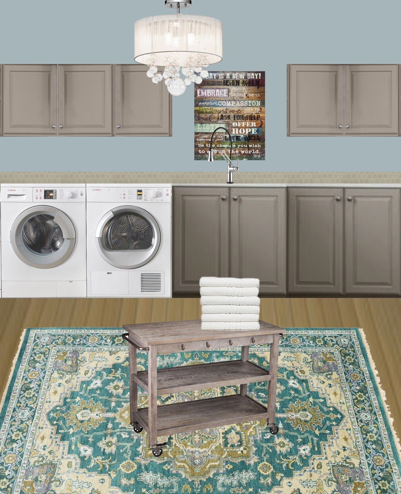 "How I'd like my #laundryroom to look! Design selections via @lowes  ""Design With Lowe's by @decorist 