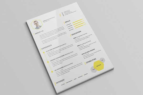 free cv resume psd template with cover letter on behance resume