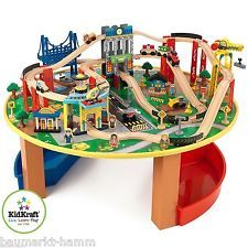 kidkraft 17985 city explorer eisenbahn set spieltisch holzbahn holzeisenbahn kinderzimmer. Black Bedroom Furniture Sets. Home Design Ideas