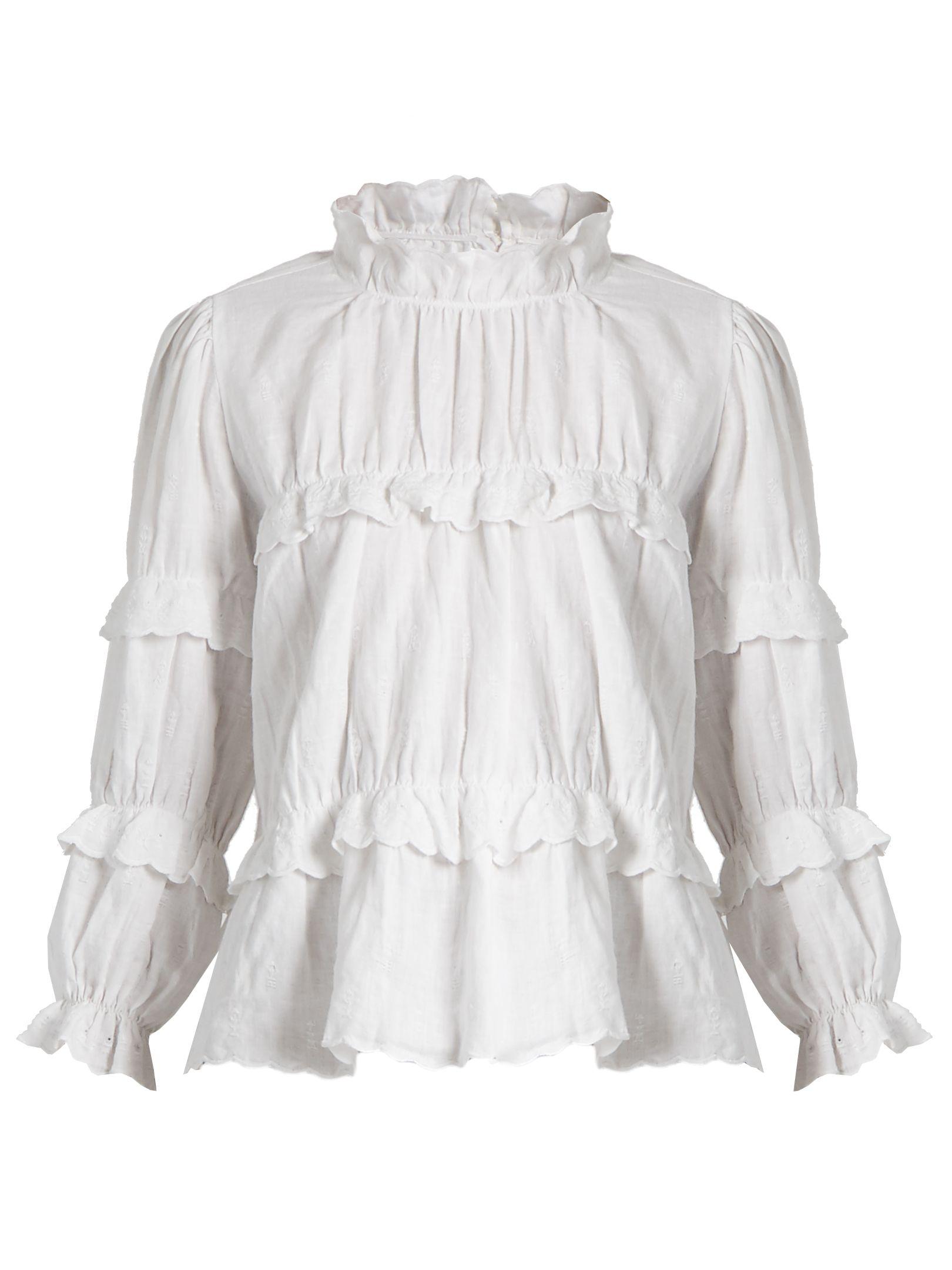 90a8cb5d3b Daniela ruffled high-neck blouse | Isabel Marant Étoile |  MATCHESFASHION.COM UK