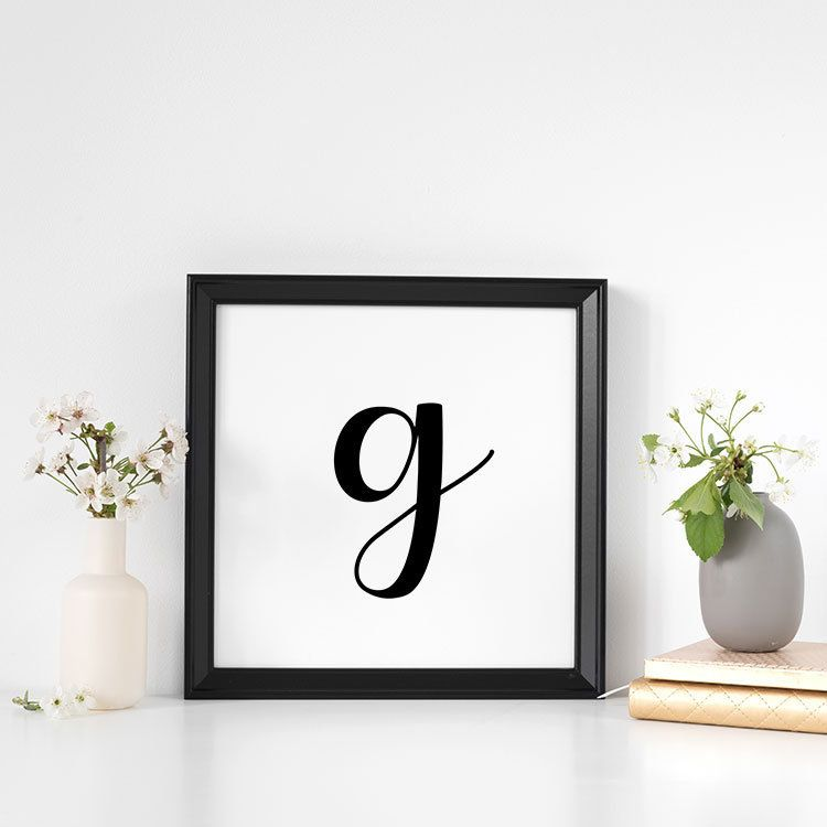 Letter G Wall Decor Print