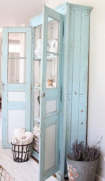 Farmhouse Bathroom Linen Cabinet