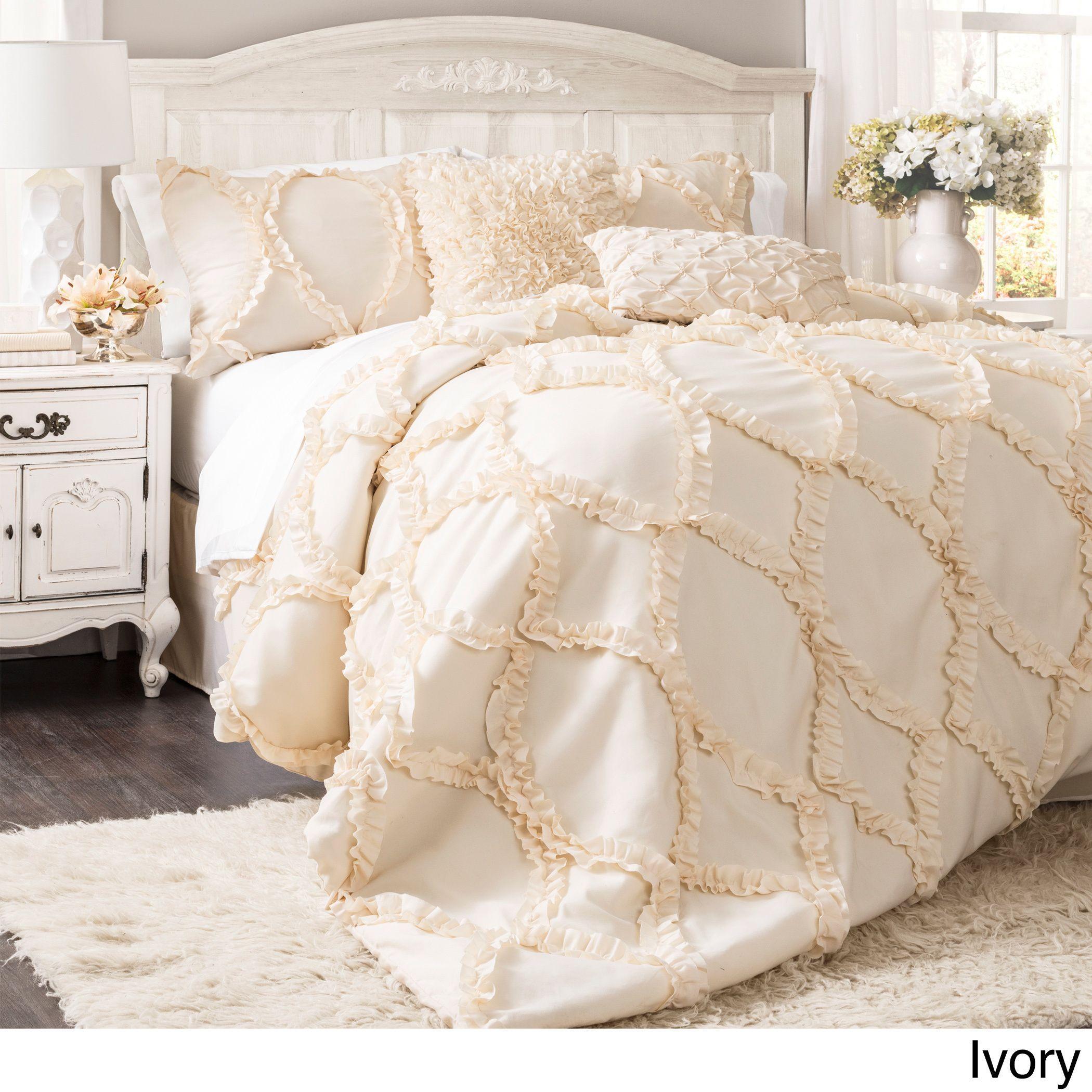 by bedding light comforter pin jennifer overstock pinterest set com rouge piece christine maison best textured ruffled sparks shopping sets on the white deals beddin