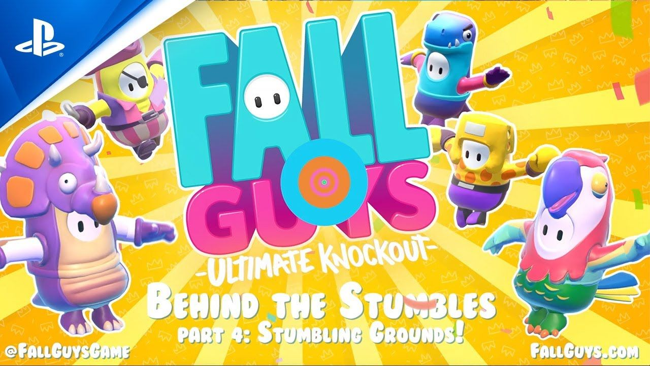 Fall Guys Behind the Stumbles Stumble Grounds PS4 in